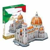 3D創意立體拼圖玩具 圣母百花大教堂建筑拼裝模型兒童益智-奇幻樂園