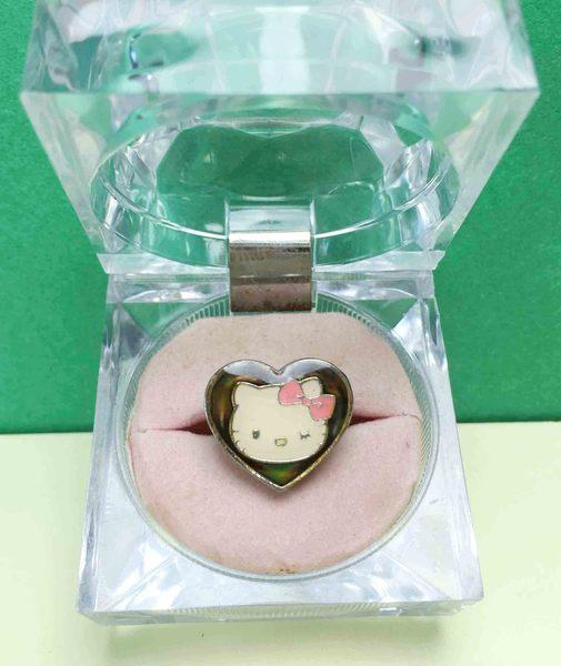 【震撼精品百貨】Hello Kitty 凱蒂貓~變色戒指-臉心