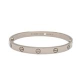Cartier 卡地亞 LOVE系列18K白金手環 LOVE Bracelet #18 【BRAND OFF】