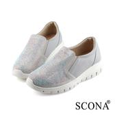 SCONA 蘇格南 輕量鑽飾舒適休閒鞋 灰色 7297-2