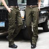 戰術褲 戶外軍裝褲男寬松耐磨戰術褲工裝褲作訓登山軍訓迷彩褲直筒特種兵
