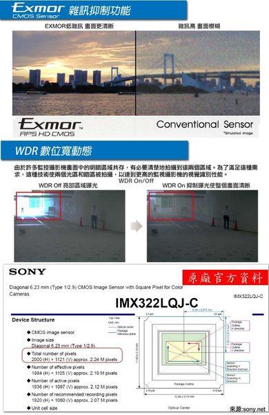 【CHICHIAU】4路AHD 1080P高清數位遠端監控套組(含雙模切換SONY高功率6陣列燈200萬畫素監視器攝影機x4)