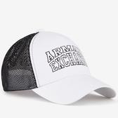 A/X 阿瑪尼白色印標兩色調帽子