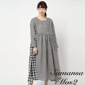 ❖ Hot item ❖  拼接格紋連身洋裝 (提醒➯SM2僅單一尺寸) - Sm2