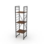(組)特力屋萊特三層架黑框/深木紋-40x40x158cm