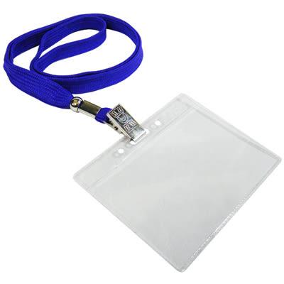 無印字證件套/派司套/識別套+布帶整組 藍 台製