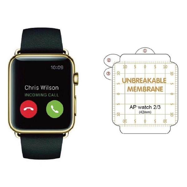 【愛瘋潮】QinD Apple Watch Series 2 / 3 (42mm) 金剛隱形膜 TPU材質 3D全屏覆蓋