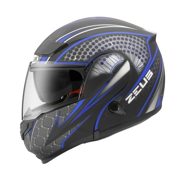 【東門城】ZEUS ZS3300 GG27(消光黑藍) 可掀式安全帽 雙鏡片
