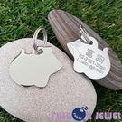 【Fulgor Jewel】富狗客製寵物吊牌 名牌 不鏽鋼 可愛老鼠造型 免費雕刻(限文字)