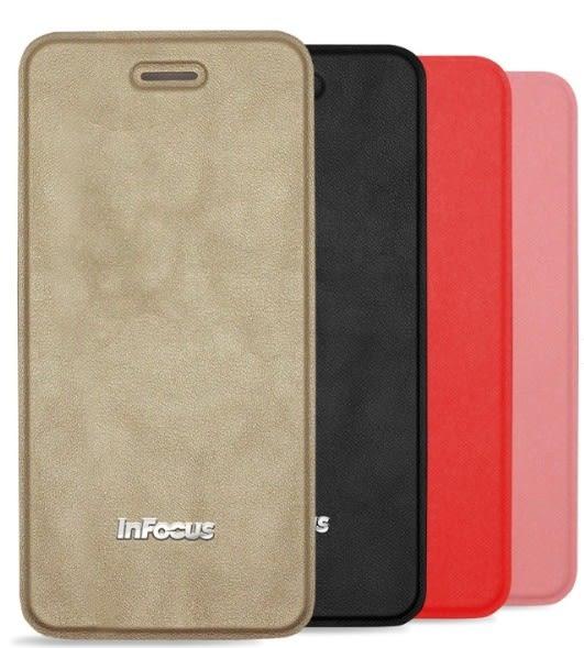 【限量特價~】 InFocus M350 InCover 小荔紋雙料側掀皮套加贈螢幕保護貼