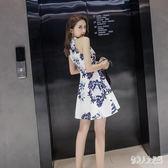 民族風連衣裙2019夜店洋裝韓版性感旗袍修身無袖連衣裙 JH1155『俏美人大尺碼』