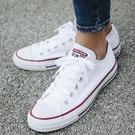 Converse Chuck Taylor All Star 白 藍紅線 低筒 帆布鞋 基本款 情侶鞋推薦款式 男鞋 女鞋 M7652C
