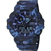 【台南 時代鐘錶 CASIO】卡西歐 G-SHOCK 宏崑公司貨 GA-700CM-2A 迷彩軍武風格強悍雙顯錶款