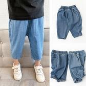 男童牛仔短褲 薄款 兒童純棉牛仔褲短褲 男童女童哈倫七分褲 夏涼褲 中大童新款-Ballet朵朵