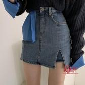 牛仔短裙 韓國東大門女裝2020春裝新款性感側開叉包臀牛仔短褲短裙半身裙潮