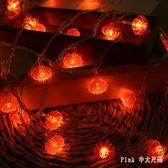 新年裝飾 LED新年喜慶小彩燈閃燈串燈紅燈籠節日過年春節中國結 nm17896【Pink中大尺碼】