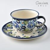 波蘭陶 青藍夏日系列 花茶杯盤組 馬克杯 點心盤 220 ml 波蘭手工製【美學生活】