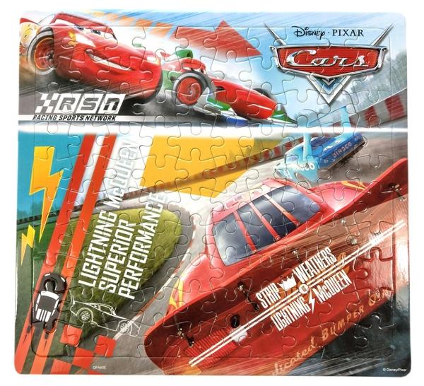 【卡漫城】 Cars 100片 拼圖 背影 ㊣版 兒童 閃電麥坤 Mcqueen 汽車總動員 賽車 益智 遊戲