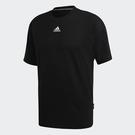 ADIDAS 3-STRIPES 男裝 短袖 休閒 三條線 基本 棉質 黑【運動世界】GC9060