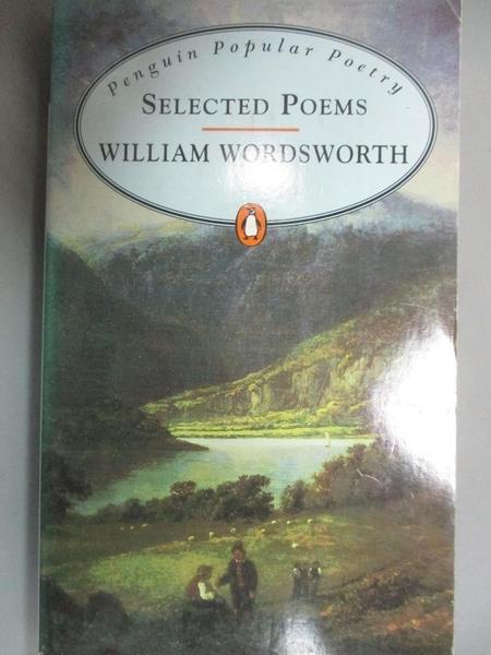 【書寶二手書T9/原文小說_IAW】Selected Poems_William Wordsworth