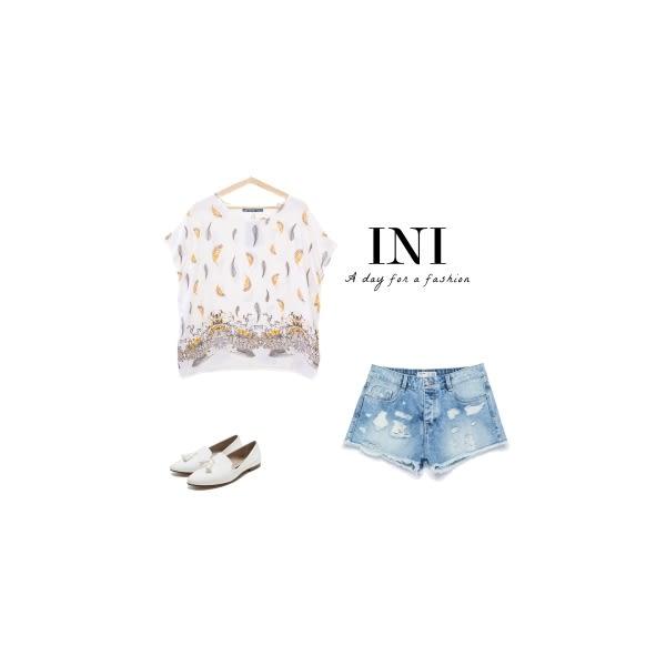 【INI】親膚休閒、涼感輕薄舒適上衣.米色