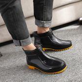 雨鞋男春夏季短筒低幫雨靴男士膠鞋時尚成人套鞋防滑防水鞋韓版新 英雄聯盟