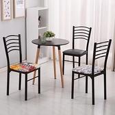 餐桌椅 簡易餐廳椅子靠背家用簡約現代飯店快餐桌椅時尚酒店餐桌椅鐵藝成人 芊墨左岸