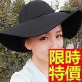 遮陽帽-甜美設計防曬女帽子5色57j96[巴黎精品]