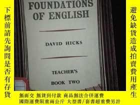 二手書博民逛書店FOUNDATIONS罕見OF ENGLISH FOR FOREIGN STUDENTS DAVID HICKS