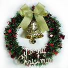 聖誕-摩達客-紅綠金蔥聖誕星星花圈(14吋)