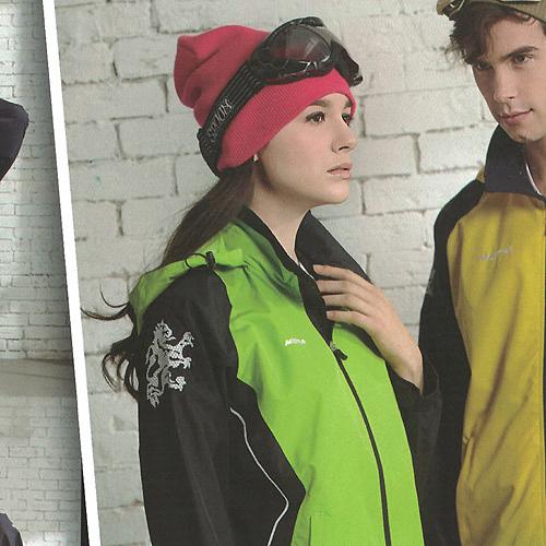 MILD STAR 女版運動休閒防水透氣刷毛裡外套-淺綠黑#JW605388