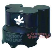 〔小禮堂〕迪士尼 米奇 日製造型階梯踩腳椅《黑.手掌》衛浴專用4904121-31068