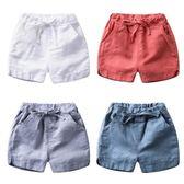 男童棉麻短褲夏裝女童裝小童褲子外穿嬰兒薄款寶寶夏季兒童五分褲   LannaS