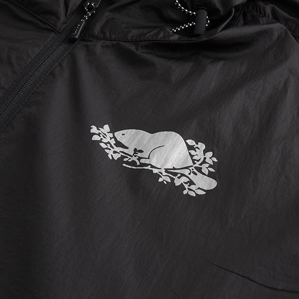 Roots - 男裝 - ROOTS 左胸反光海狸連帽外套 - 黑色