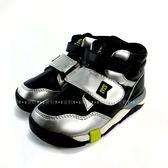 日本月星MOONSTAR 魔鬼氈高筒機能學步鞋 《7+1童鞋》A481黑色