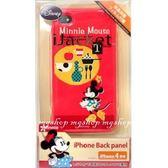 日本原裝 Disney 迪士尼 iPhone4 專用保護套(殼)-Minnie米妮Table