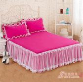 正韓蕾絲床裙公主床罩送枕套一對