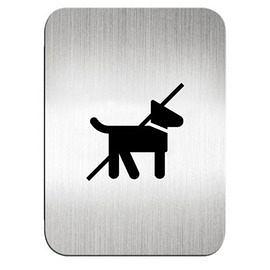 迪多Deflect-o 鋁質方形貼牌-禁止攜帶寵物 610710S