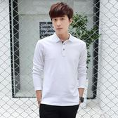 中大尺碼POLO衫 新款長袖T恤帶領polo衫成年有領丅恤衫 QQ8437『東京衣社』