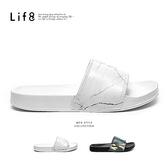 Life8- Casual 輕量抗水 都會個性拖鞋【09933】