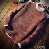 秋冬季男士毛衣男韓版寬鬆針織衫青少年圓領外套加厚打底衫潮流『小宅妮時尚』