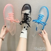 雨靴 學生透明果凍雨鞋女韓國時尚短筒防滑可愛雨靴水鞋