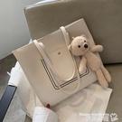 托特包 韓國可愛小熊包包女2020新款潮時尚大容量側背包網紅高級感托特包 曼慕
