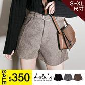 LULUS特價-Y前立體車線短褲附同色腰帶S-XL-3色  現+預【04060928】