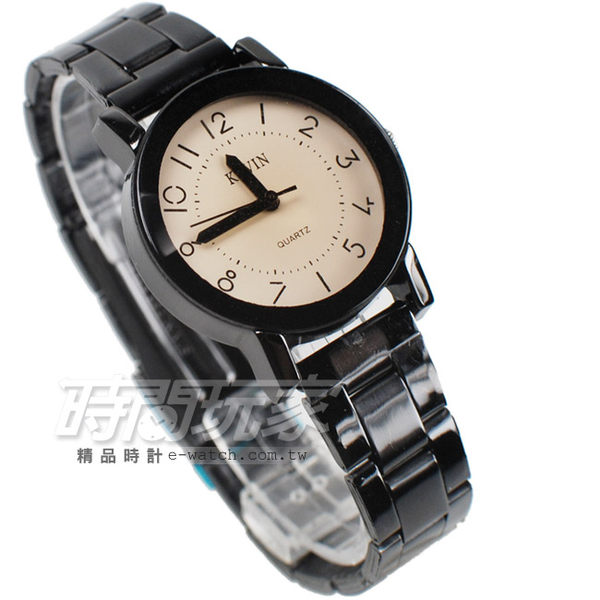KEVIN 簡單羅馬時刻 時尚腕錶 IP黑電鍍 女款 KEV2068數字小 文青 復古 立體切割鏡面 漸層