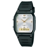 【CASIO】經典方形雙顯錶-珍珠白面(AW-48HE-7A)