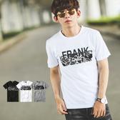 T恤 厚膠FRANK大理石紋造型短T【NB0269J】