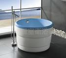 【麗室衛浴】BATHTUB WORLD  BB3319 壓克力  正圓漸層獨立缸 內藍外白