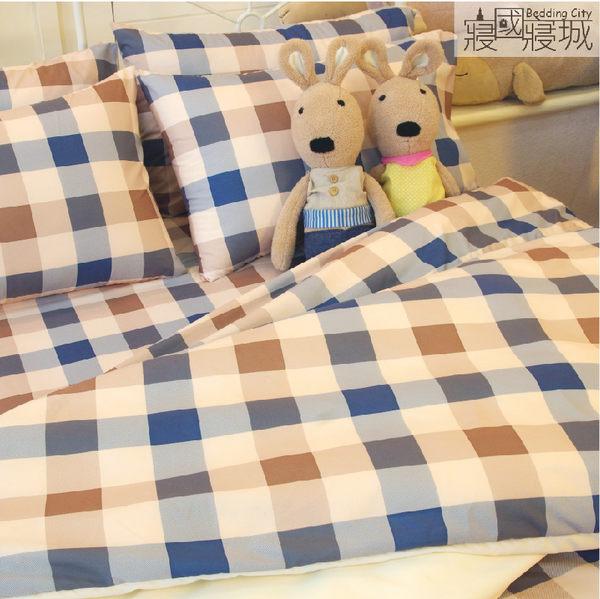 加大雙人床包(含枕套) 英式格紋 天鵝絨美肌磨毛 兩色【觸感升級、SGS檢驗通過】 # 寢國寢城