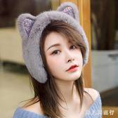 耳罩冬天時尚加厚保暖仿皮毛一體女可愛貓耳耳套毛毛護耳耳小清新 DR470 【男人與流行】